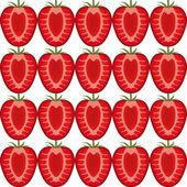 Seamless strawberry pattern — Stock Vector