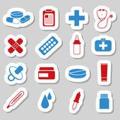 Pharmacy stickers — Stock Vector