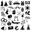 Stock Vector: Holiday and events doodle images