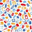 Kitchen seamless pattern — Stock Vector
