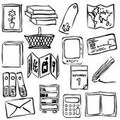 Bookshop sketch images — Stock Vector