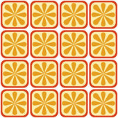 Seamless orange pattern — Stock Vector