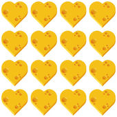 Cheese heart seamless pattern — Stock Vector