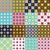 Seamless patterns collection — Stock Vector