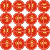 Seamless tomato pattern — Stock Vector