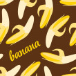 Seamless banana pattern — Stock Vector