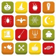 Halloween icons — Stockvektor  #30514915