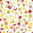 Halloween seamless pattern — ストックベクター #30514943