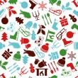 Christmas seamless pattern — Image vectorielle