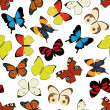 Butterfly seamless pattern — Stock vektor