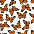 Butterfly seamless pattern — Stock Vector #30515397