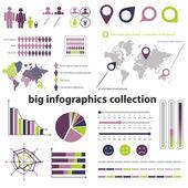 Infografiki kolekcja — Wektor stockowy