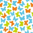 Butterfly seamless pattern — Stockvektor
