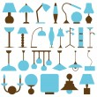 Lamp icons — Stock Vector #31077525