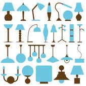 Icônes de lampe — Vecteur