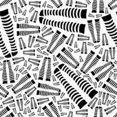 Knee-length socks seamless pattern — Stock Vector