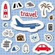 Travel stickers — Imagen vectorial