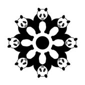 Panda in circle — Stock Vector