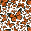 Butterfly seamless pattern — Vettoriali Stock