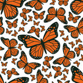 Butterfly seamless pattern — Stock Vector