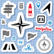 Navigation stickers — Stock Vector
