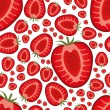 Seamless strawberry pattern — Stock Vector