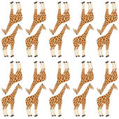 Seamless giraffe pattern — Stock Vector