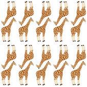 Seamless giraffe pattern — Stock Vector
