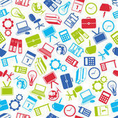 Office seamless pattern — Stock Vector