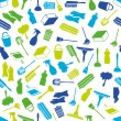 Cleaning seamless pattern — Imagen vectorial