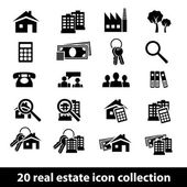 Real estate icons — Stok Vektör