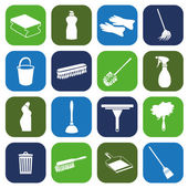 Cleaning icons — Stock Vector
