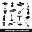 Cleaning icons — Image vectorielle