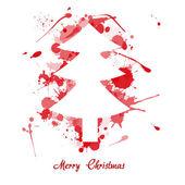 Ink christmas tree — Stock Vector