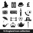 England icons — Stock Vector