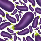 Seamless eggplant pattern — Stock Vector