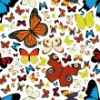Butterfly seamless pattern — Stockvectorbeeld