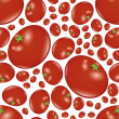 Seamless tomato pattern — Stock Vector