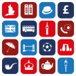 Stock Vector: England icons