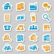 Stock Vector: Real estate stickers