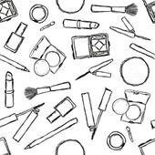 Seamless cosmetics pattern — Stock Vector