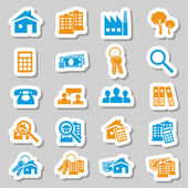Real estate stickers — Stock Vector