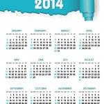 Calendar 2014 — Stock Vector #35624947