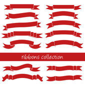 Red ribbons — Stock Vector