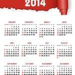 Calendar 2014 — Stock Vector #36603925