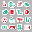 Stock Vector: Game stickers
