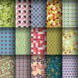 Seamless pattern collection — Image vectorielle