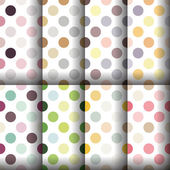 Dots seamless pattern collection — Stock Vector