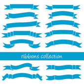 Blue ribbons — Stock Vector