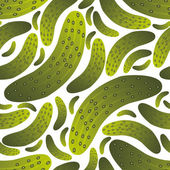 Seamless cucumber pattern — Stock Vector